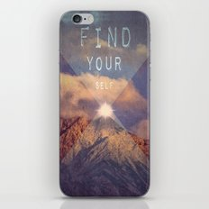 FIND YOUR SELF iPhone & iPod Skin