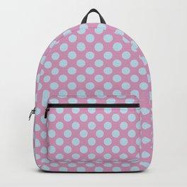 Polka Dot Pink Blue Pastel Pattern Backpack