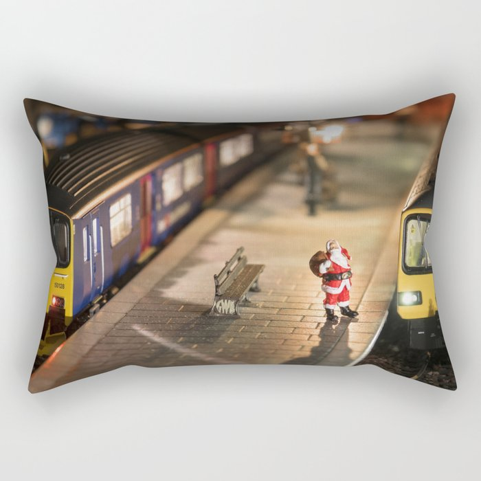 Santa goes to Exmouth Rectangular Pillow
