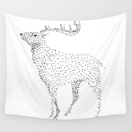 Deer dots Wall Tapestry