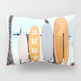 Choose Your Surfboard Pillow Sham