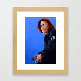 Dana Scully B.S, M.D Framed Art Print