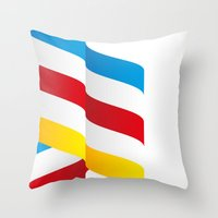 flag Throw Pillows featuring Flag by Kexit guys