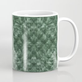 Quilted Forest Green Velvety Pattern Coffee Mug