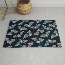 Pastel Party Bat Pattern Rug