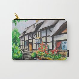 Anne Hathaway's Cottage. Watercolour Paining. Shakespeare Birthplace. Stratford-Upon-Avon. England. Carry-All Pouch