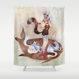 Poaia, dresseuse de chats Shower Curtain