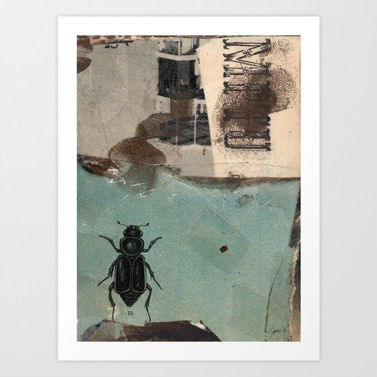 Der große Totengräber/big burying beetle Art Print