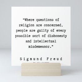 42  |   Sigmund Freud Quotes | 190926 Mini Art Print