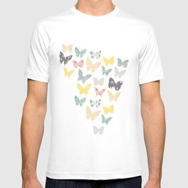 butterflies pattern T-shirt
