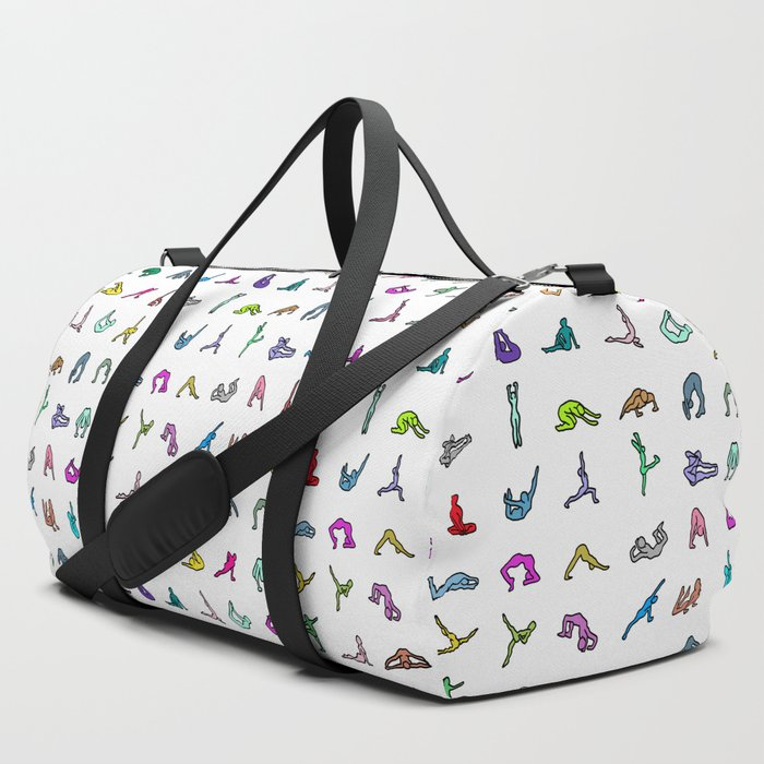 0d281c3935 Rainbow Yoga Poses Duffle Bag by notsniw