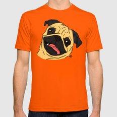 Pug Mens Fitted Tee X-LARGE Orange