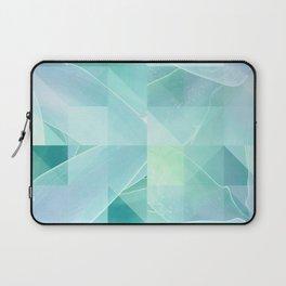 Soft Geo Agave - Aqua and blue Laptop Sleeve