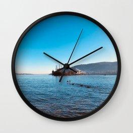 Italian island, Borromeo islands, italian lakes, lake fine art, fisherman's island Wall Clock