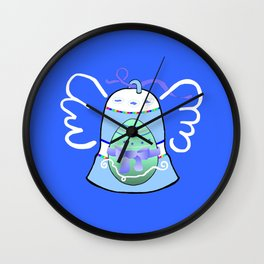 Blue Bell on Blue Wall Clock