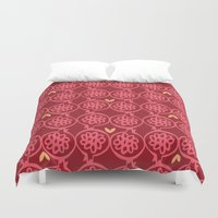 pomegranate Duvet Covers featuring pomegranate by ottomanbrim