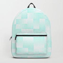 Sky Blue Geo Pattern Backpack