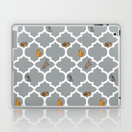 Cats on a Lattice - Grey Laptop & iPad Skin