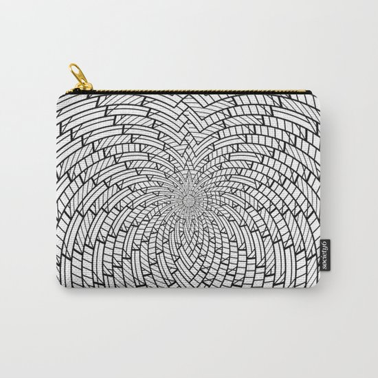 sweeping black and white 3 Carry-All Pouch