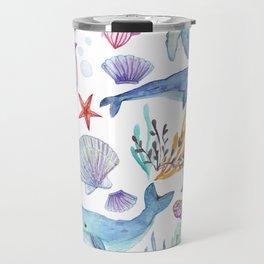 under the sea watercolor Travel Mug