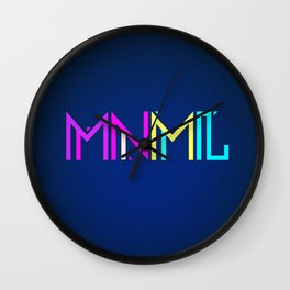 Minimal Type (Colorful Edm) Typography - Design Wall Clock