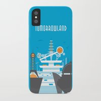 travel poster iPhone & iPod Cases featuring Tomorrowland Travel Poster by Rob Yeo Design
