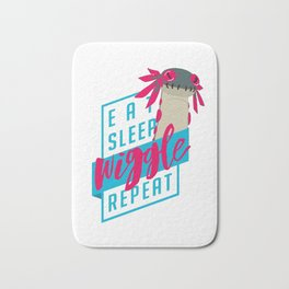 Eat Sleep Wiggle Repeat Bath Mat