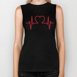 EKG Heart Biker Tank