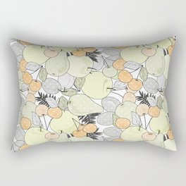 Fruit market . Retro . Rectangular Pillow