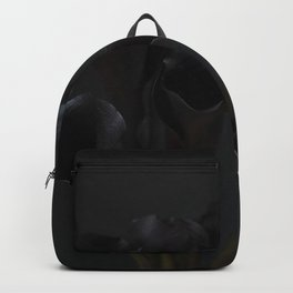 Black Cala Lily on Black Backpack