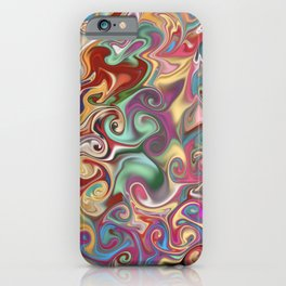 Colorful psychedelic pattern digital art  iPhone Case