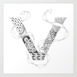 """Zenletter """"V"""" Art Print"""