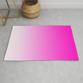 White and Pink Gradient 044 Rug