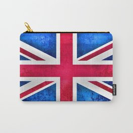 Grunge British Flag Carry-All Pouch