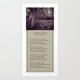 A Poison Tree Art Print