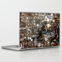black and gold Laptop & iPad Skins featuring Black Gold by Tyler Resty