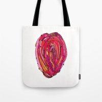 artsy Tote Bags featuring Artsy Heart by Ingrid Padilla