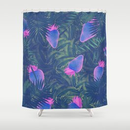 Neon Strawberries in the Night #1 Shower Curtain