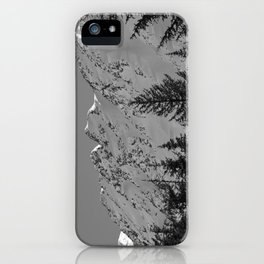 Gwin's Winter Vista - B & W iPhone Case