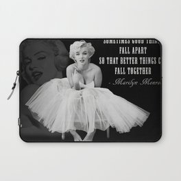Ma-rilyn Monroe Ballerina Poster, Quality Print, American icon, actress, Vintage Art Photography, Home Décor, Wall Ar Laptop Sleeve
