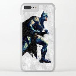 Hero Bat Man Clear iPhone Case