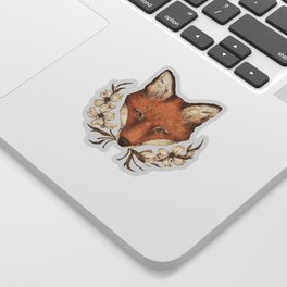 The Fox and Dogwoods Sticker