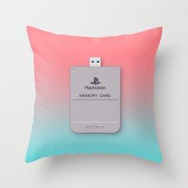 PS1 Memory Card Throw Pillow