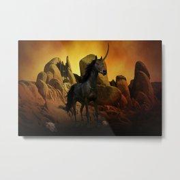 The Dark Unicorn Metal Print