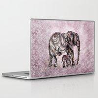 mom Laptop & iPad Skins featuring Mom Eephant by Harsh Malik