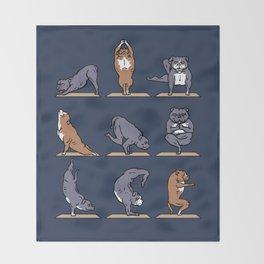American Pit Bull Terrier Yoga Throw Blanket