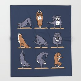 American Pit Bull Terrier Yoga Throw Blanket