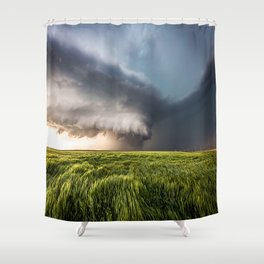 Leoti's Masterpiece - Incredible Storm in Western Kansas Shower Curtain