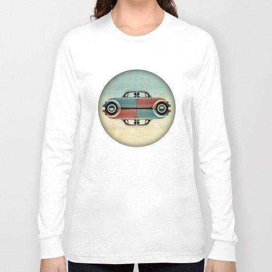 checkered bug - VW beetle Long Sleeve T-shirt