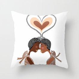 Love Braids Throw Pillow